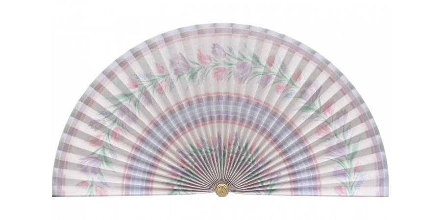L300b Pleated Decorative Fan